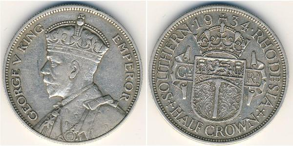 1/2 Crown Southern Rhodesia (1923-1980) Silver 
