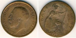 1/2 Penny United Kingdom (1707 - ) Bronze George V of the United Kingdom (1865-1936)