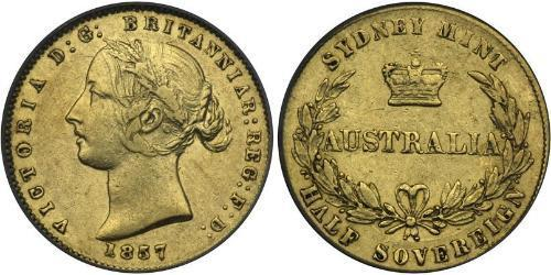 1/2 Sovereign Australien (1788 - 1931) Gold Victoria (1819 - 1901)