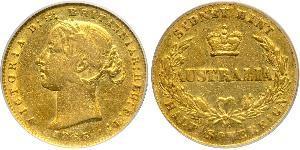 1/2 Sovereign Australia (1788 - 1939) Oro Victoria (1819 - 1901)