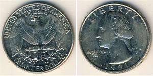 1/4 Dollar USA (1776 - ) Copper-Nickel