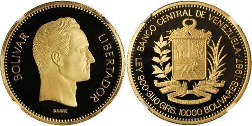 10000 Болівар Венесуела Золото Simon Bolivar (1783 - 1830)