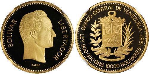 10000 Bolivar Venezuela 金 Simon Bolivar (1783 - 1830)