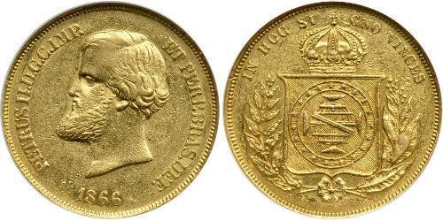 10000 Reis Impero del Brasile (1822-1889) Oro