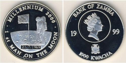 1000 Квача Замбия (1964 - ) Серебро