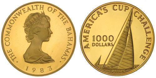 1000 Dollar Bahamas Gold Elizabeth II (1926-)