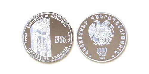 1000 Dram Armenia (1991 - ) Silver