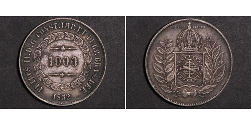 1000 Reis Imperio del Brasil (1822-1889) Plata