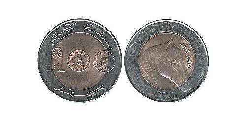 100 Динар Алжир Биметалл