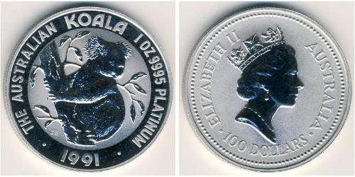 100 Доллар Австралия (1939 - ) Платина