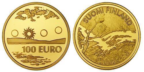 100 Евро Финляндия (1917 - ) Золото