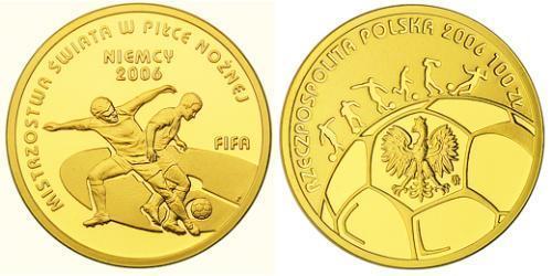 100 Злотый Республика Польша (1991 - ) Золото