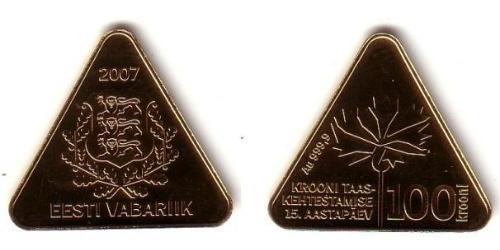 100 Крона Эстония (1991 - ) Золото