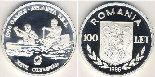 100 Лей Румыния Серебро