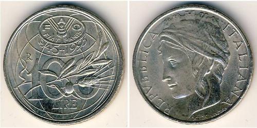 100 Лира Италия Никель/Медь
