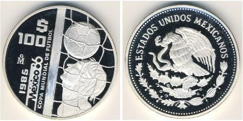 100 Песо Соединённые Штаты Мексики (1867 - ) Серебро