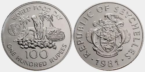 100 Рупия Сейшелы Никель/Медь
