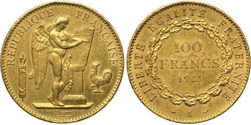 100 Франк Первая французская республика  (1792-1804) Золото