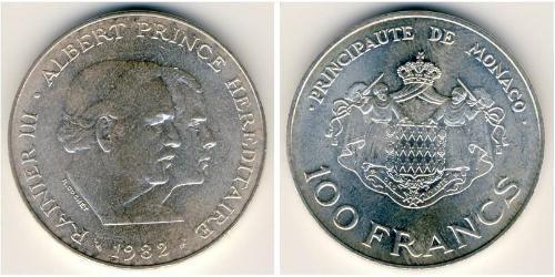 100 Франк Монако Серебро