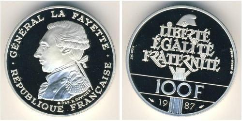 100 Франк Пятая французская республика (1958 - ) Серебро