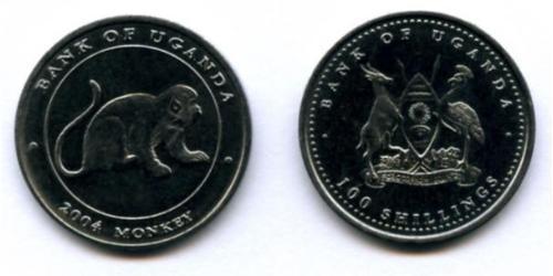 100 Шиллинг Уганда Никель/Медь