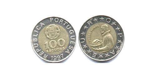 100 Эскудо Португальская Республика (1975 - ) Биметалл