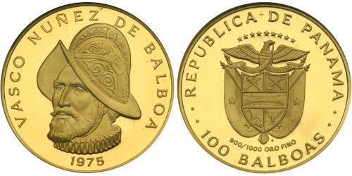 100 Balboa 巴拿马 金 瓦斯科·努涅斯·德·巴尔沃亚