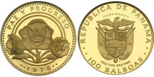 100 Balboa Republic of Panama Gold