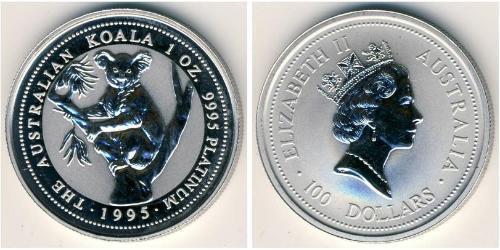100 Dollar Australia (1939 - ) Platinum