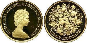 100 Dollaro Canada Oro Elisabetta II (1926-)
