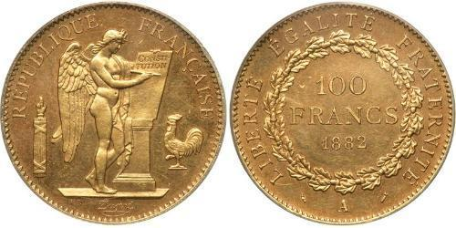 100 Franc 法兰西第三共和国 (1870 - 1940) 金