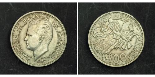 100 Franc Monaco 銅/镍 兰尼埃三世