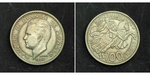 100 Franc Monaco Cuivre/Nickel Rainier III