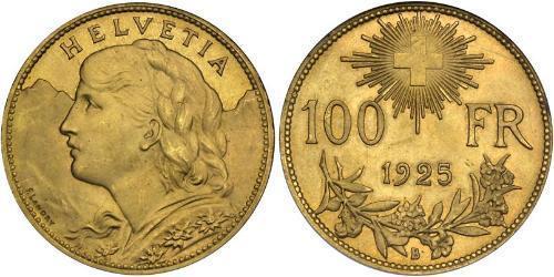 100 Franc Switzerland Gold