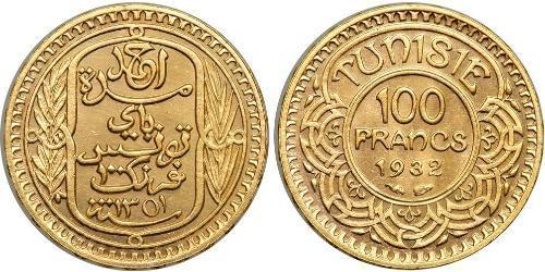 100 Franc Tunesien Gold