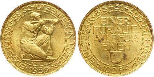 100 Franc Svizzera Oro