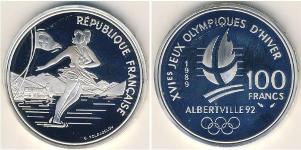 100 Franc France Silver