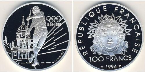100 Franc French Fifth Republic (1958 - ) Silver