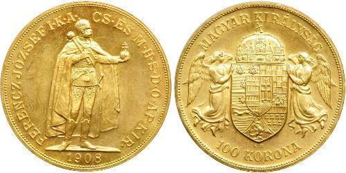 100 Korona Austria-Hungary (1867-1918) Gold Franz Joseph I (1830 - 1916)