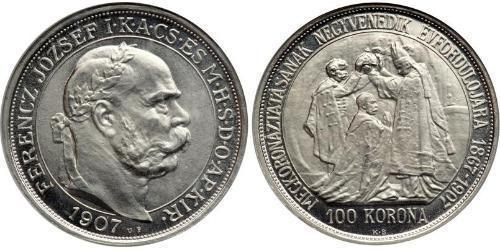 100 Korona Austria-Hungary (1867-1918) Platinum Franz Joseph I (1830 - 1916)