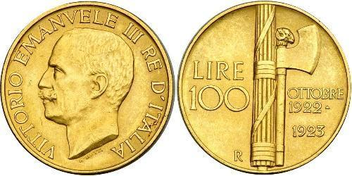 100 Lira Kingdom of Italy (1861-1946) Oro