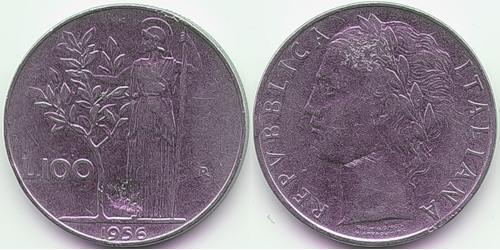 100 Lira 意大利 Steel