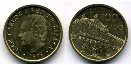100 Peseta Kingdom of Spain (1976 - ) Copper/Zinc/Nickel Juan Carlos I of Spain (1938 - )