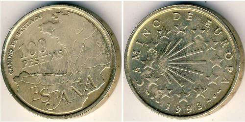 100 Peseta Kingdom of Spain (1976 - ) Brass/Nickel Juan Carlos I of Spain (1938 - )