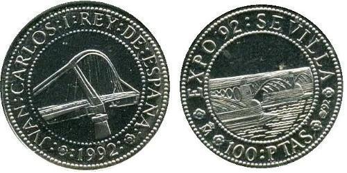 100 Peseta Kingdom of Spain (1976 - ) Silver