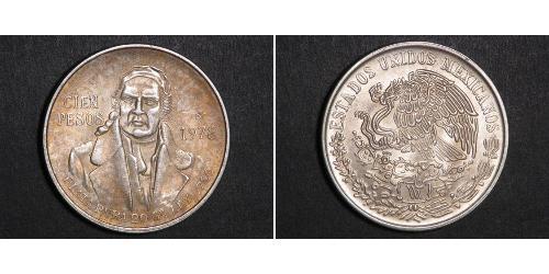 100 Peso Second Federal Republic of Mexico (1846 - 1863) 銀