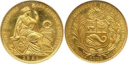 100 Sol Perú Oro