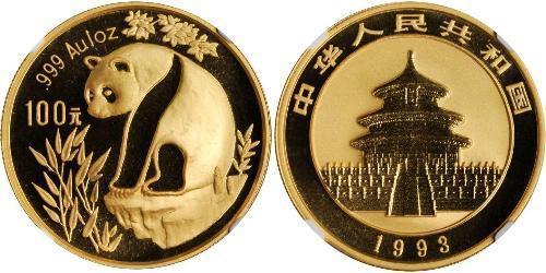 100 Yuan República Popular China Oro
