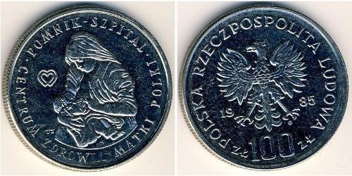 100 Zloty República Popular de Polonia (1952-1990) Níquel/Cobre