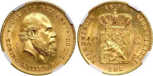10 Гульден Королевство Нидерланды (1815 - ) Золото
